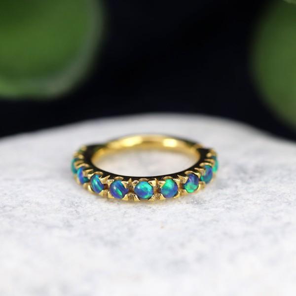 Clicker mit Opal 24K. Gold-Copy