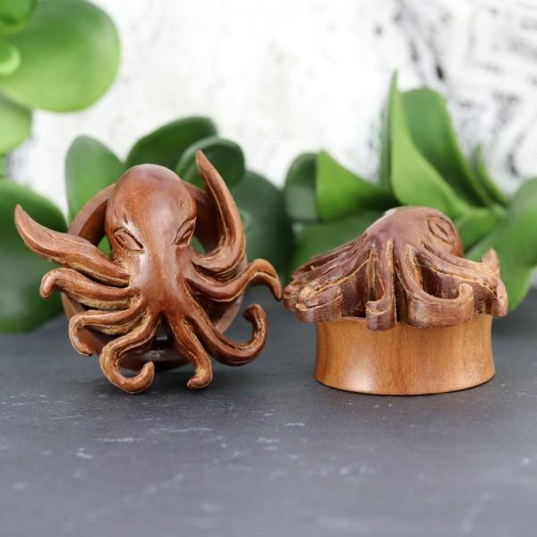 Tunnel aus Rosenholz mit Oktopus