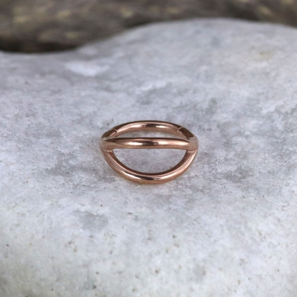 Clickring mit doppelter Leiste Rosé