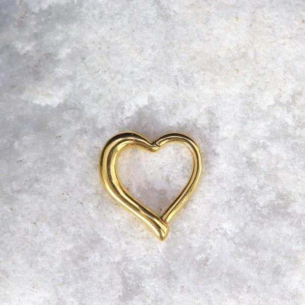 Herzförmiger Clicker 24K. Gold