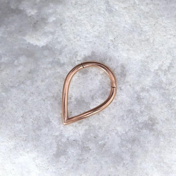 Tropfenförmiger Clicker Roségold