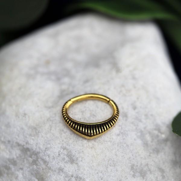 Ovaler Clickring 24K. Gold