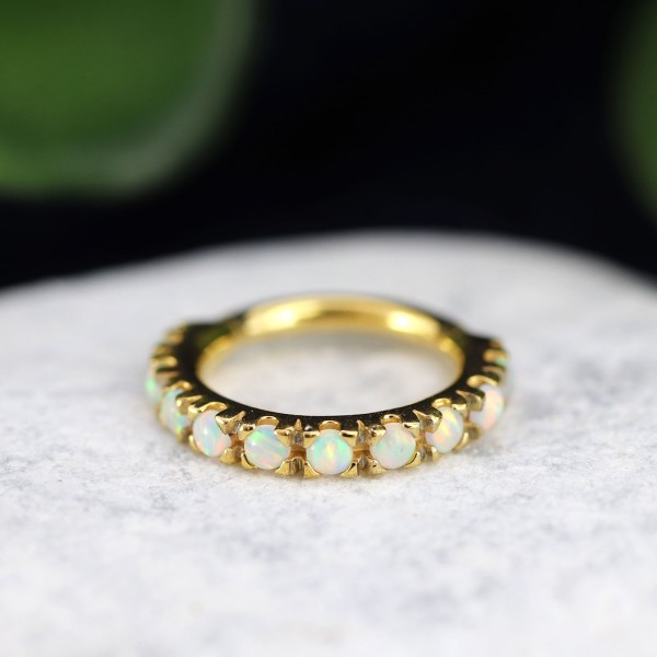 Clicker mit Opal 24K. Gold