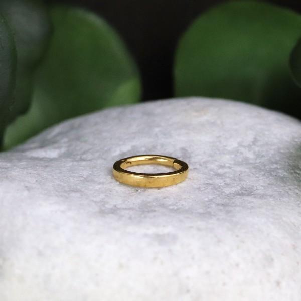 Ovaler Clickring 24K Gold