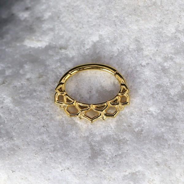 Ovaler Clicker mit Ornament Gold