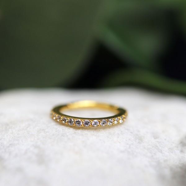 Clicker mit Swarovskisteinen 24K. Gold