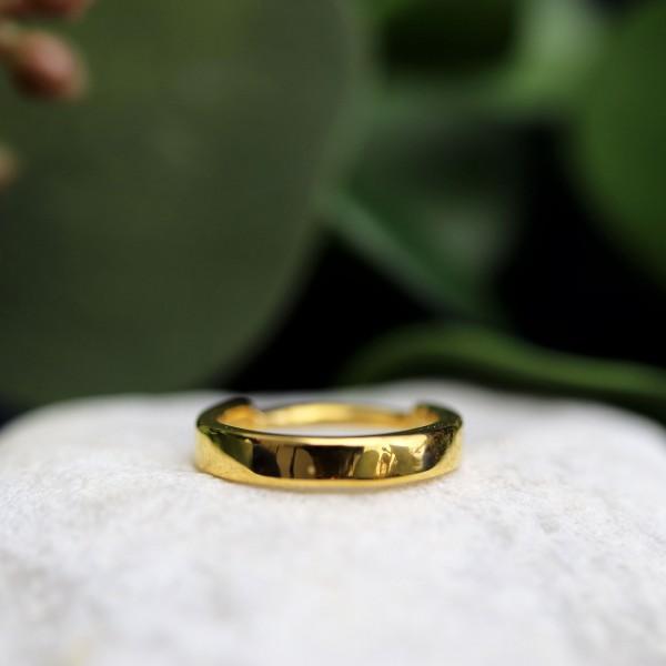 Breiter Clickring 24K. Gold