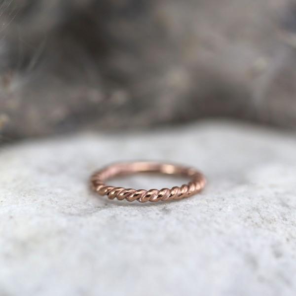 Gekordelter Clickring Rosé Gold