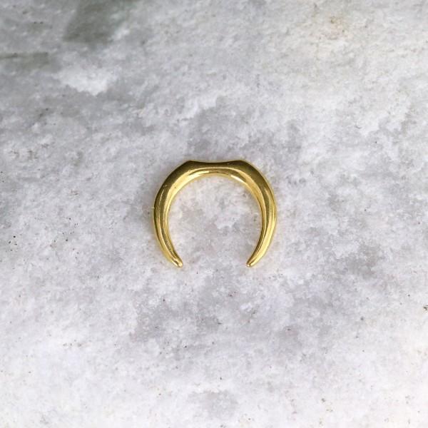 Sichelförmiges Hufeisen 24K Gold