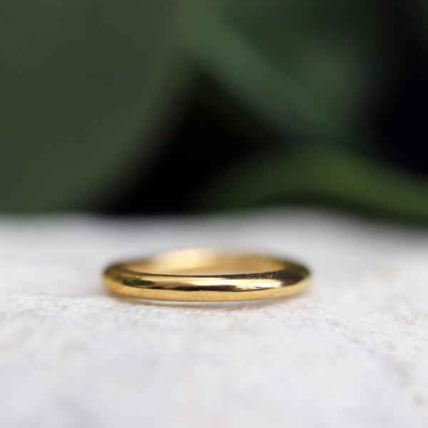 Schlichter Clickring 24K. Gold